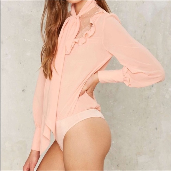 Nasty Gal Tops - Pussybow bodysuit